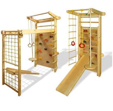 MAŁPISZON Drabinka gimnastyczna drewniana Czempion 3 drewno