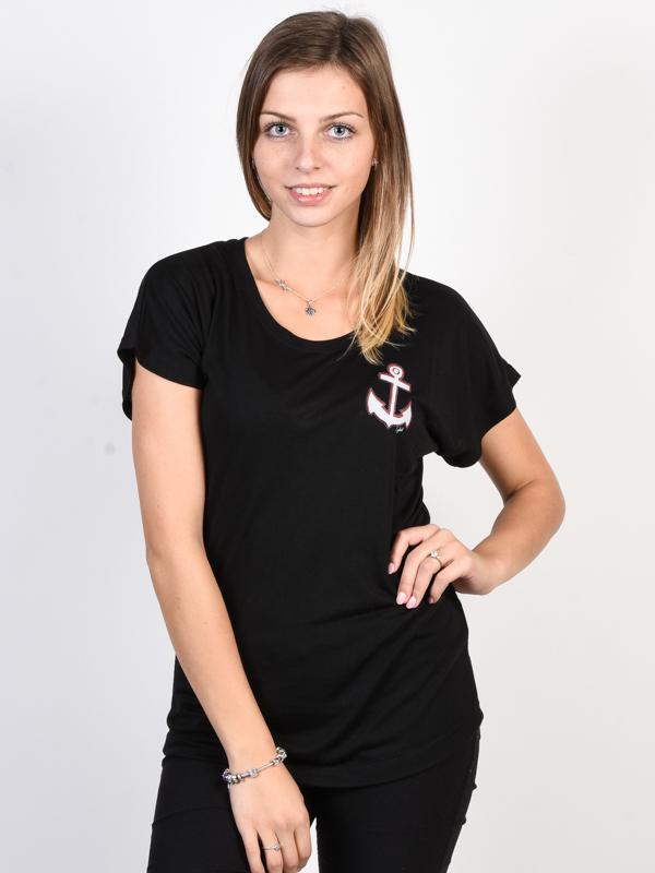Ezekiel Small Port Dolman BLK t-shirt damski