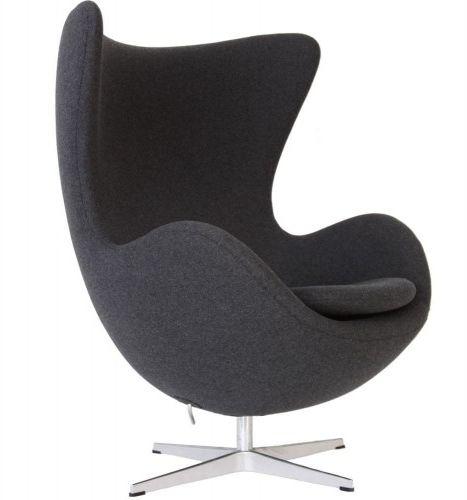 Fotel JAJO ciemno szary kaszmir - inspirowany proj. Egg Chair