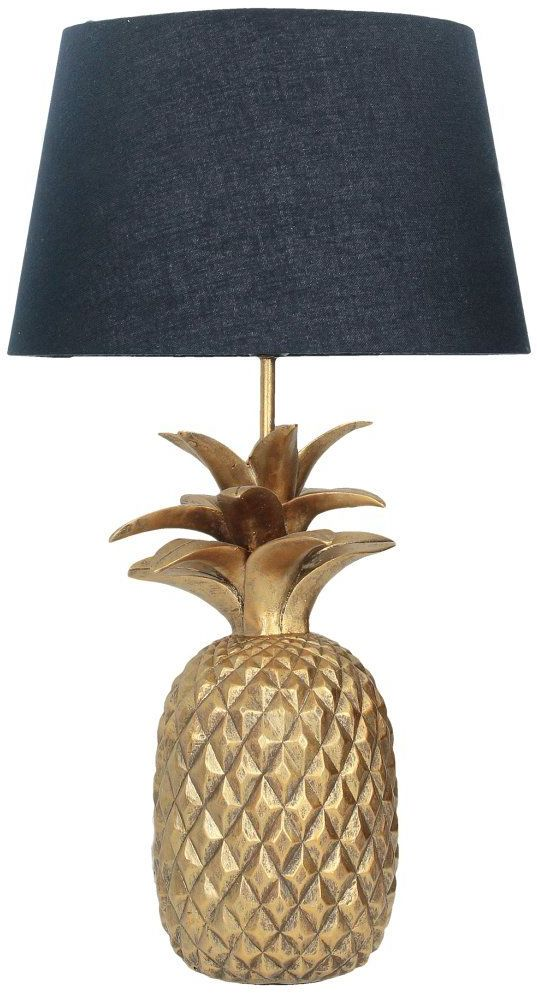 Lampa Pineapple gold wys. 56cm