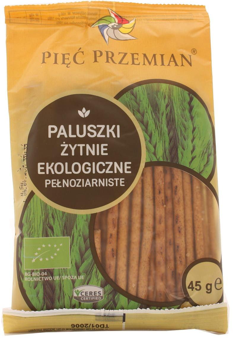 Paluszki żytnie ekologiczne BIO pełnoziarniste - Pięć przemian - 45g