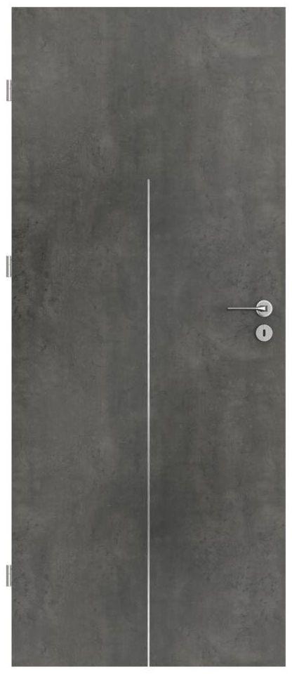 Skrzydło drzwiowe pełne LINE Beton ciemny 70 Lewe PORTA