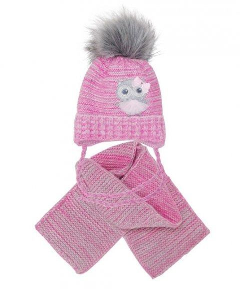 Komplet ajs 38-412 czapka+szalik