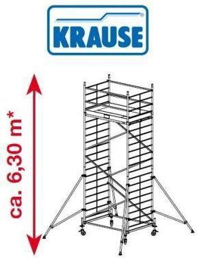 Rusztowanie jezdne, aluminiowe o szerokiej konstrukcji ProTec XXL Krause 6.3m robocza 911148