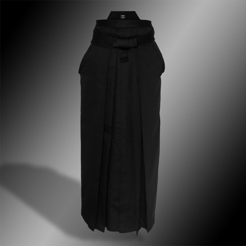 premium cotton hakama (czarny, bawełna)