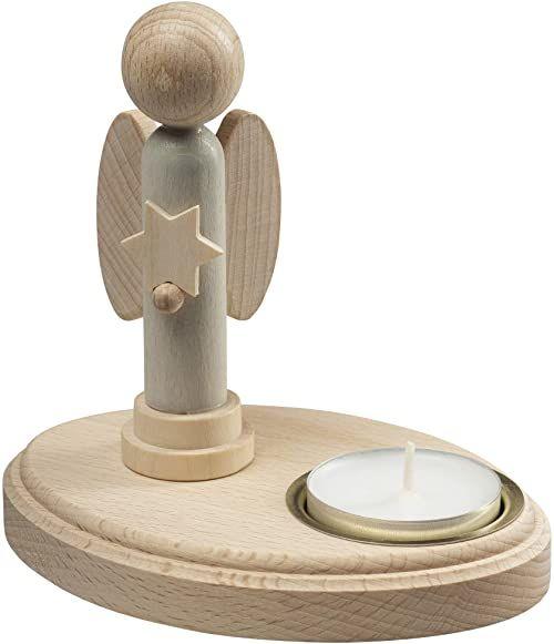 Saico L88032 świecznik, drewno, kolorowy, duży