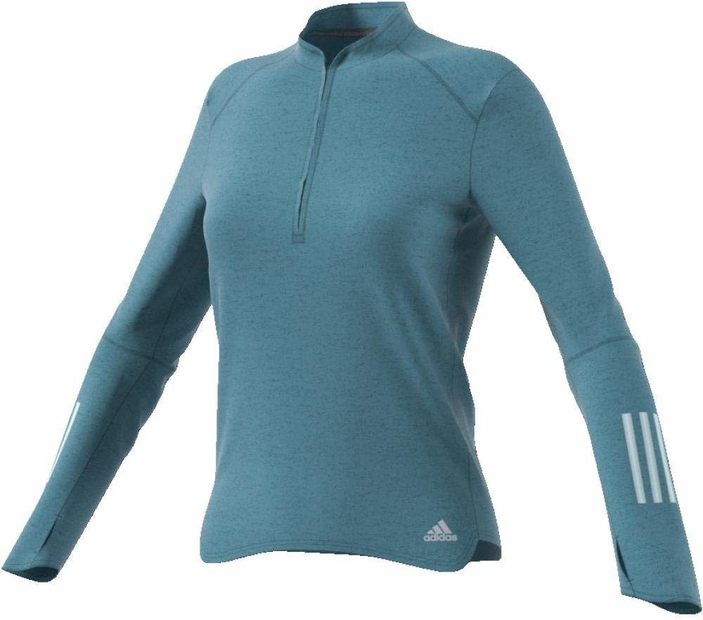 adidas Response damska bluza z długim rękawem 1/2, Raw Grey/Colhtr, 2XS