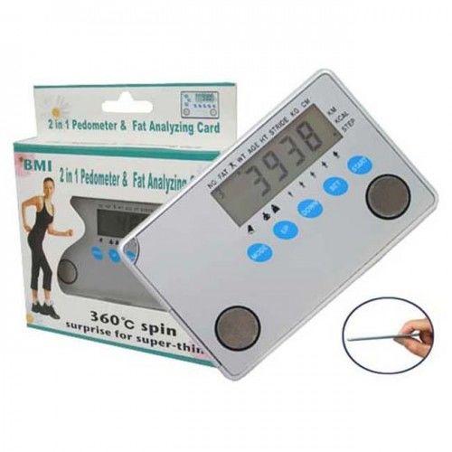 Super płaski krokomierz z BMI