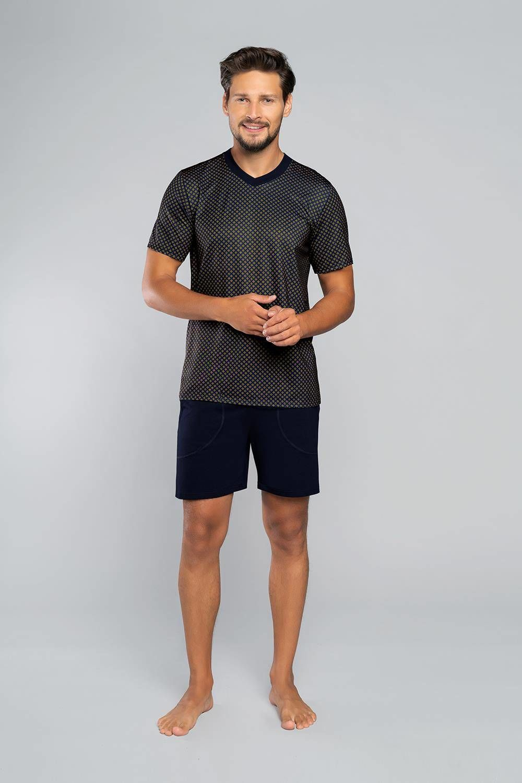 Piżama męska z krótkim rękawem i krótką nogawką NORMAN Italian Fashion