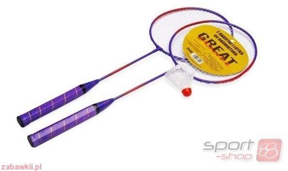 Zestaw do badmintona: rakiety + lotka
