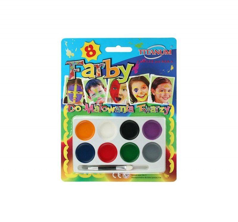 Farby do malowania twarzy 6 kolorów Titanum 188066 188066