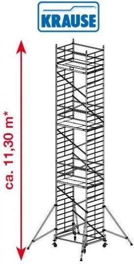 Rusztowanie jezdne, aluminiowe o szerokiej konstrukcji ProTec XXL Krause 11.3m robocza 911193