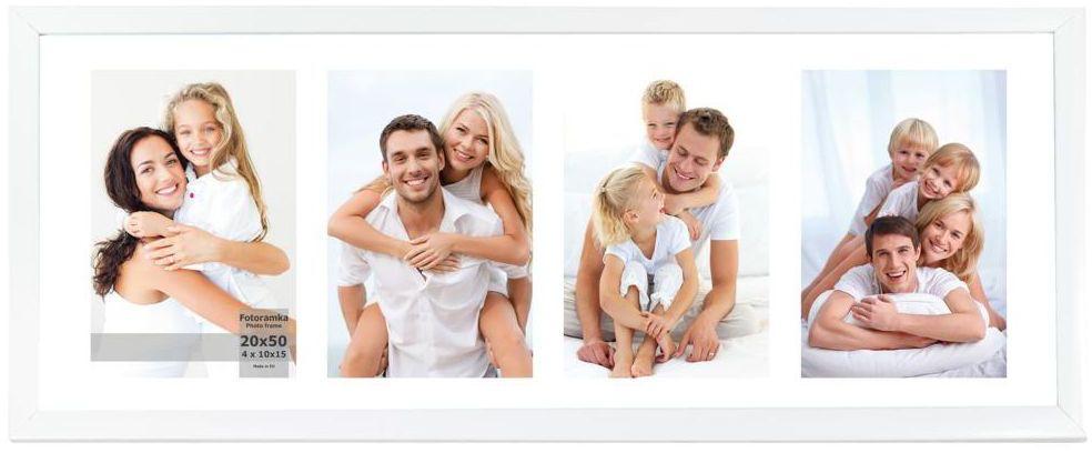 Multiramka na 4 zdjęcia 23 x 53 cm biała