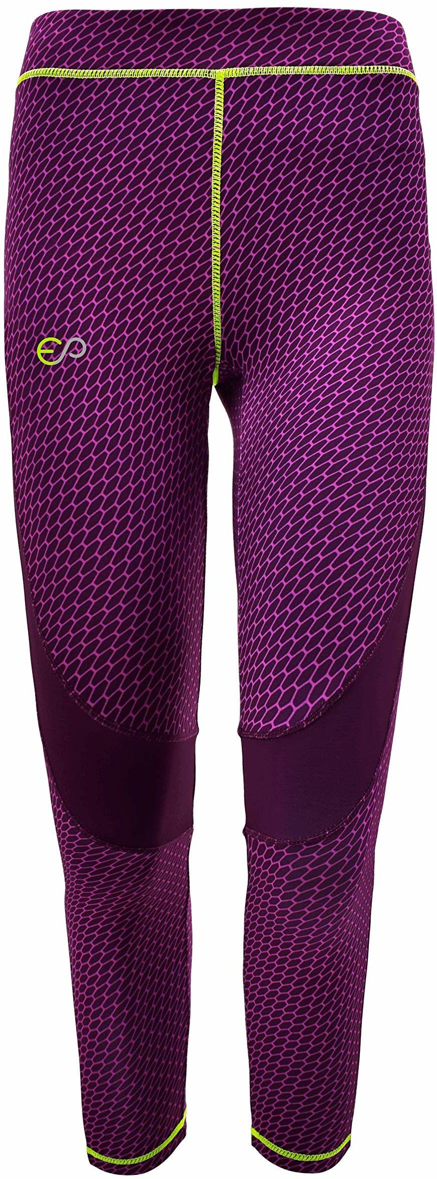 ElPlayer damskie spodnie na nadgarstek, fioletowe/Giallo Fluo, XS