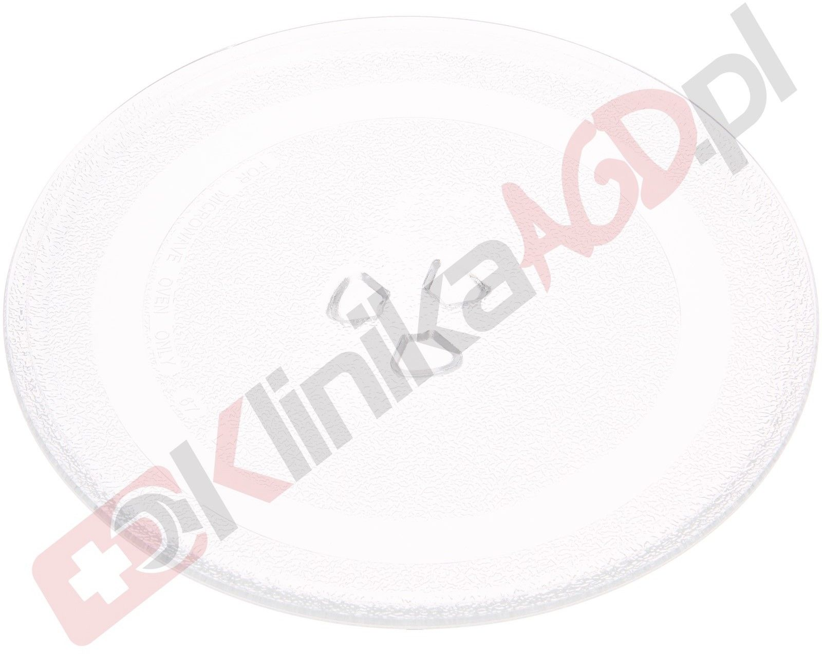 Talerz szklany 24.5cm do kuchenki mikrofalowej NeoProfi