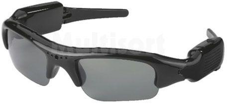 Przyciemniane okulary z kamerą i mikrofonem