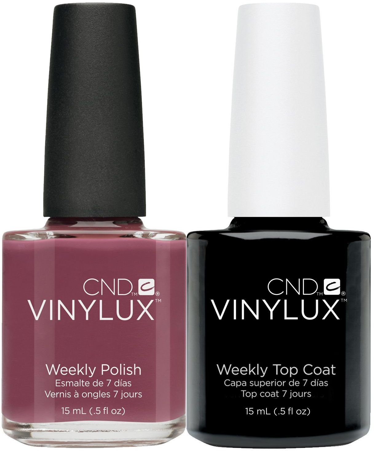 CND Vinylux Married to the Mauve plus Top Coat 15 ml, 1 opakowanie (1 x 30 ml)