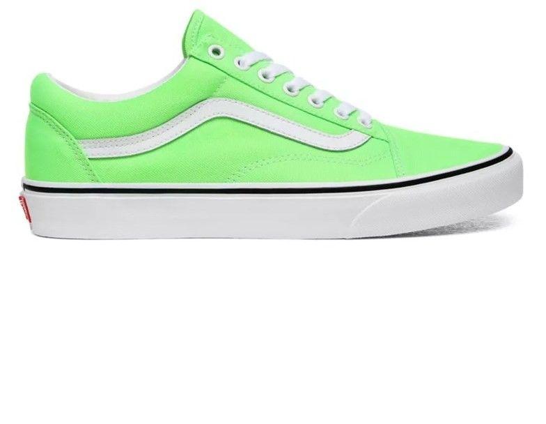 buty VANS - Old Skool (Neon) Green Gecko/Tr Wht (WT5)