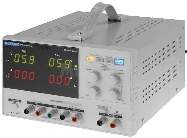 Zasilacz laboratoryjny Kanały:3 0-30V 3A i 2.5/3.3/5V
