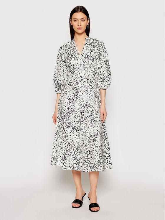 DKNY Sukienka koszulowa DD1AM347 Biały Regular Fit