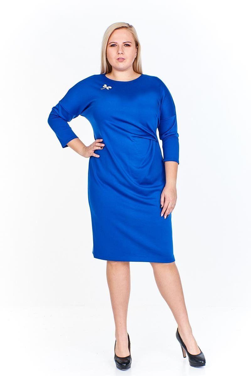 Sukienka FSU963 CHABROWY CIEMNY