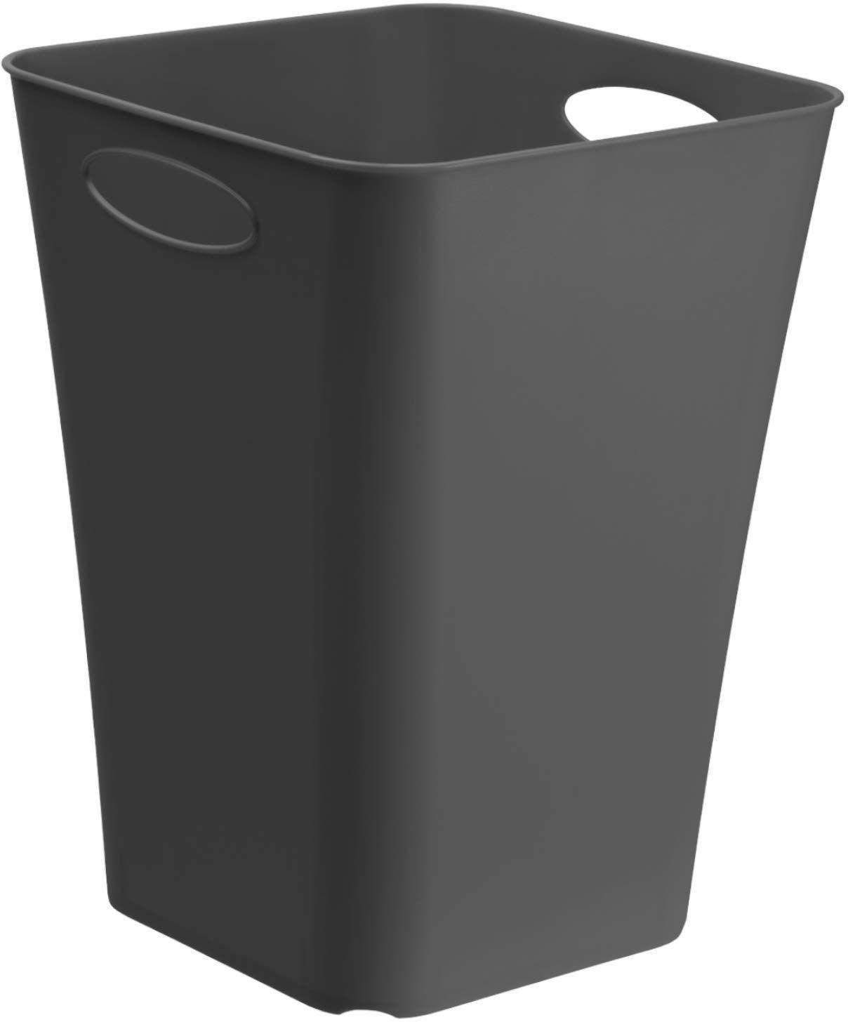 Rotho Living kwadratowe pudełko do przechowywania 23 l, tworzywo sztuczne (PP), nie zawiera BPA, antracyt, 23 l (29,5 x 29,5 x 39,5 cm)