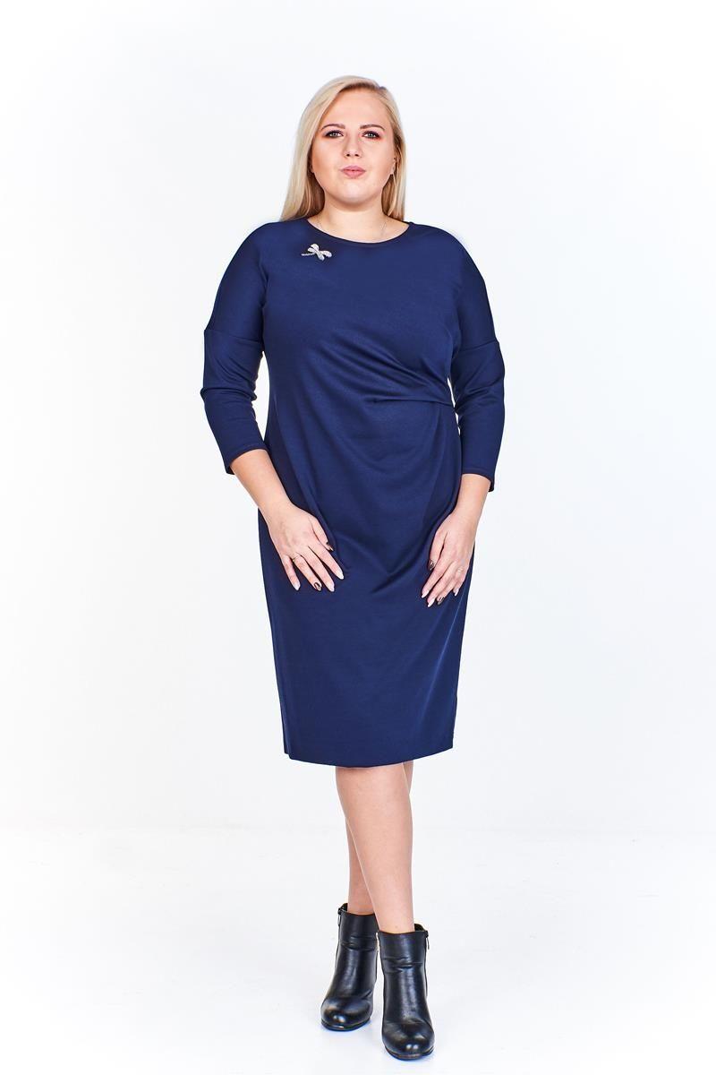 Sukienki Sukienka Suknie FSU963 GRANATOWY