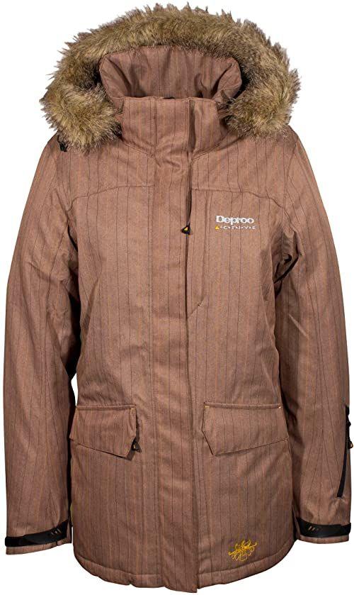 Deproc Active damska kurtka funkcyjna parka, brązowa, 38