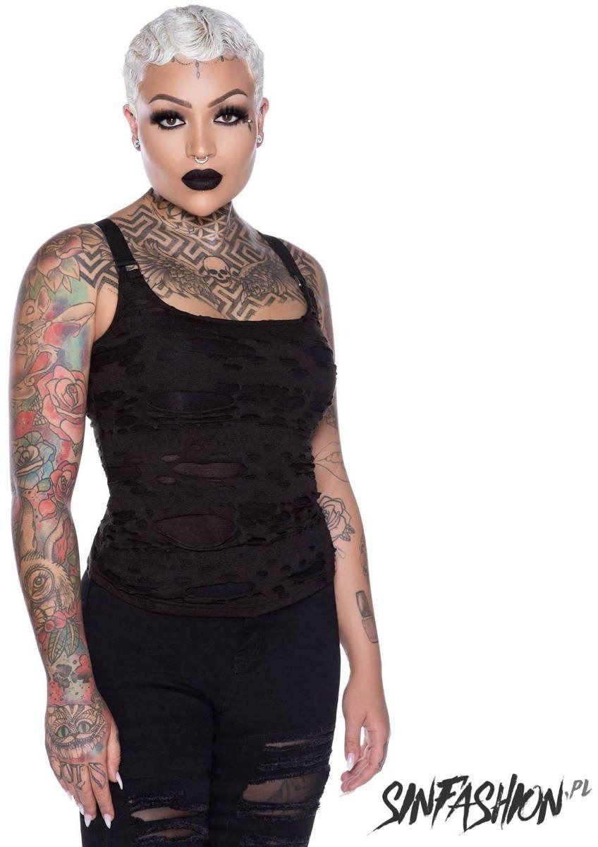 Top killstar machete vest top
