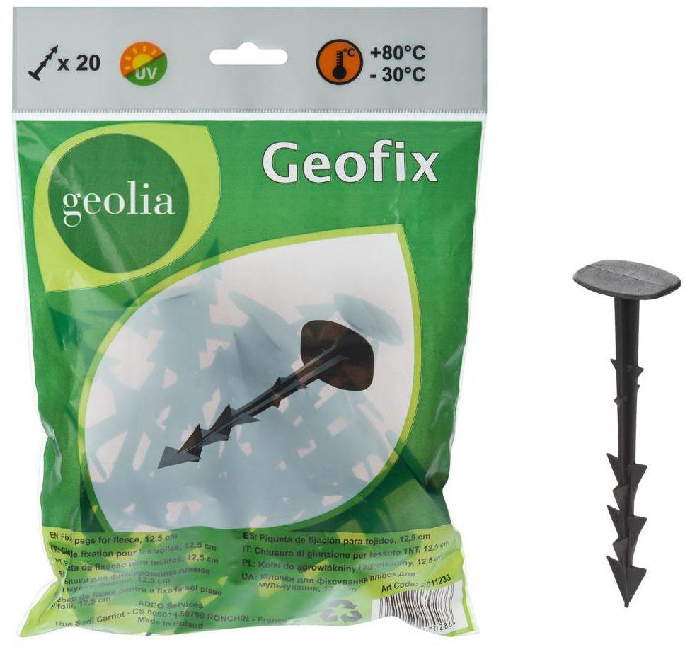 Kołki do agrowłókniny 20 szt. plastikowe dł. 12,5 cm GEOLIA