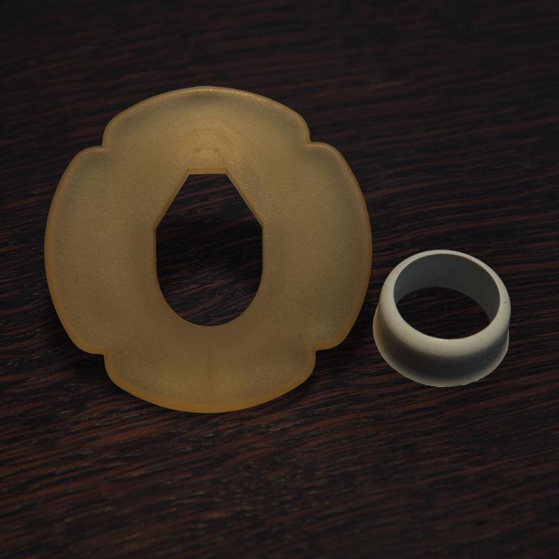 tsuba platikowa biała z gumką