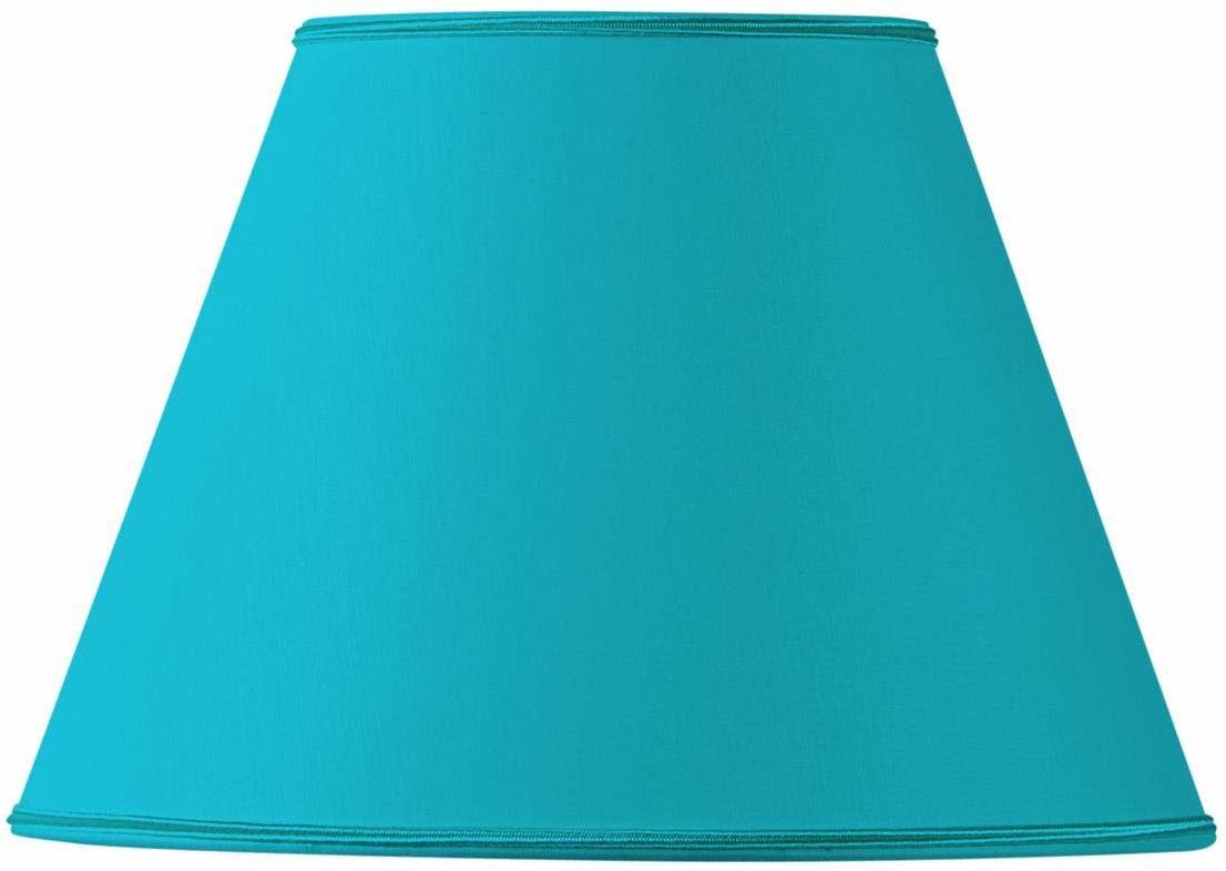 Klosz lampy, stożkowy, materiał, Ø 25 x 13 x 18 cm, turkusowy