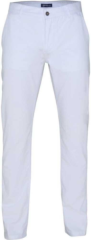 Asquith Fox Klasyczne spodnie typu chino lato bawełna unisex biały Size 34/Large