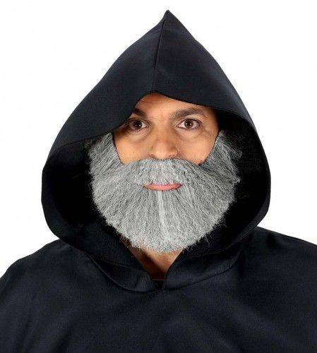 Szara broda z wąsami dla mnicha, mędrca
