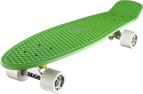 Ridge Deskorolka Big Brother Nikiel 69 cm Mini Cruiser, zielona/biała