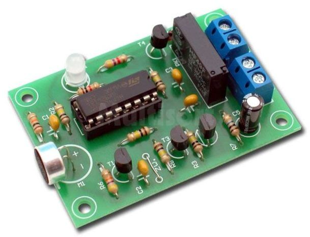 Klaskacz akustyczny zdalne sterowanie z przekaźnikiem (do montażu)