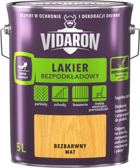 Vidaron Lakier Bezpodkładowy bezbarwny mat 2,5 L