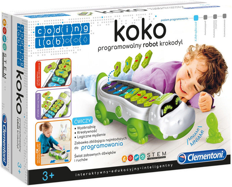 Clementoni - Koko programowalny robot krokodyl 50108