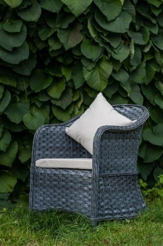 Fotel na taras z szarego technorattanu MODERNO