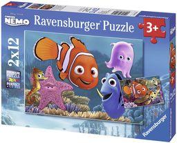 Nemo der kleine Ausreißer. Puzzle 2 X 12 Teile