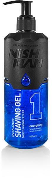 Nishman Shaving Gel 1 Energizing żel do golenia blue 400ml