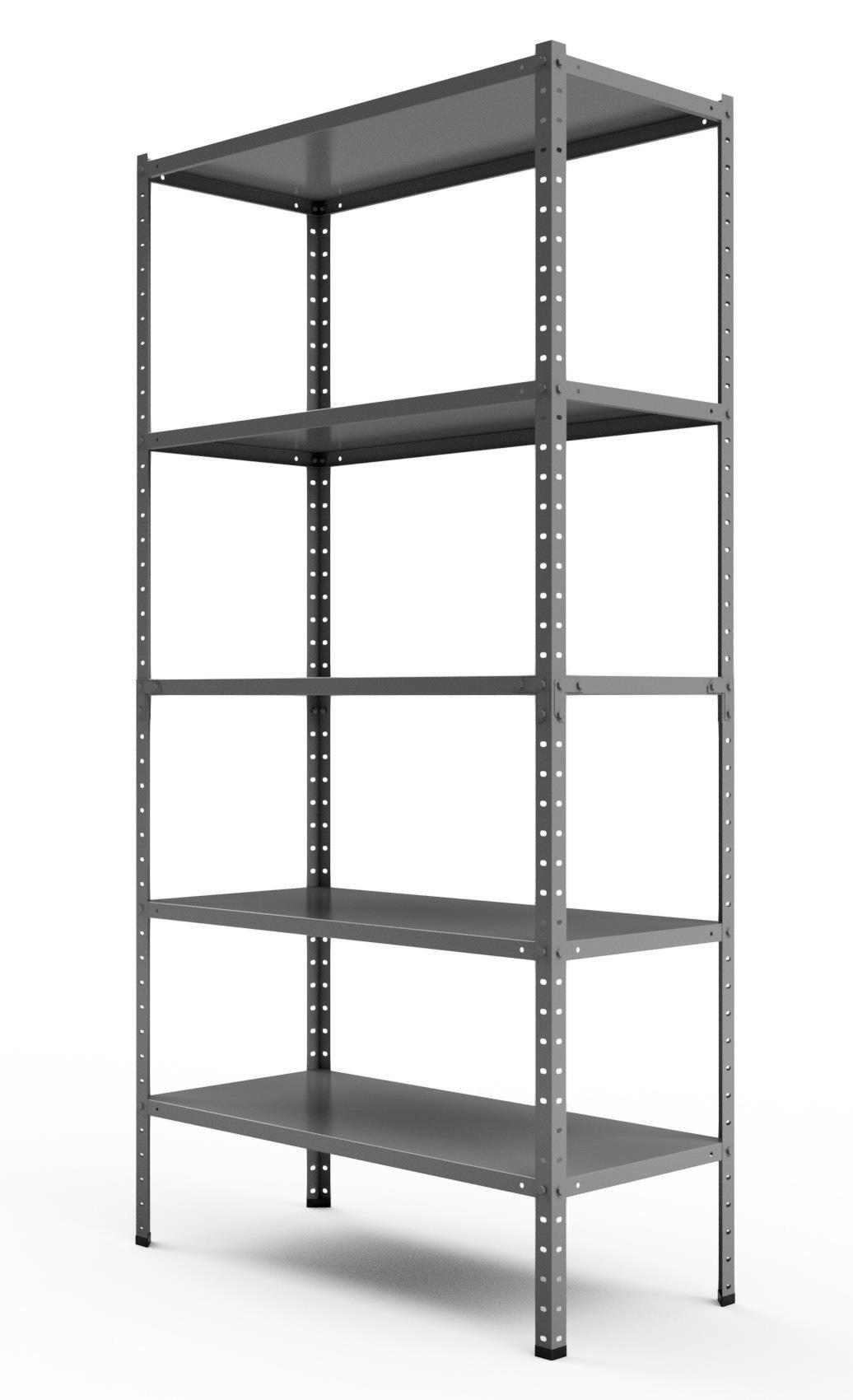 Regał metalowy magazynowy Steel 180x90x40 5P 450kg