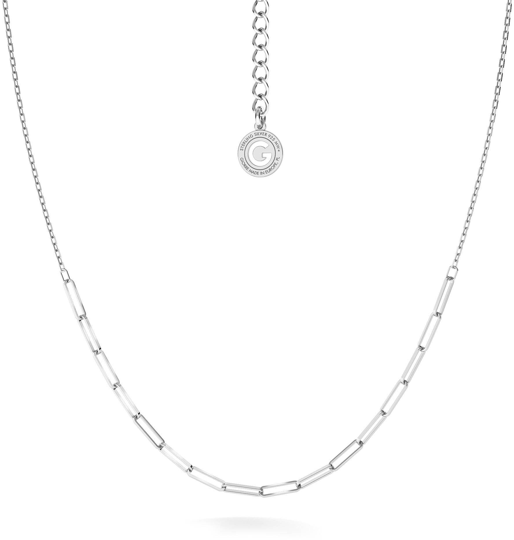 Srebrny łańcuszek anker do wpinania charmsów, srebro 925 : Srebro - kolor pokrycia - Pokrycie platyną