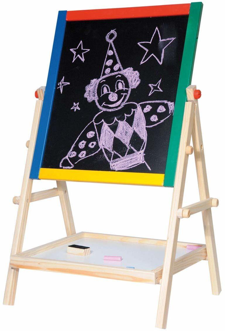 Woodyland 102110101 magnetyczna czarno-biała tablica, wielokolorowa