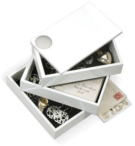 Szkatułka na biżuterię SPINDLE biała