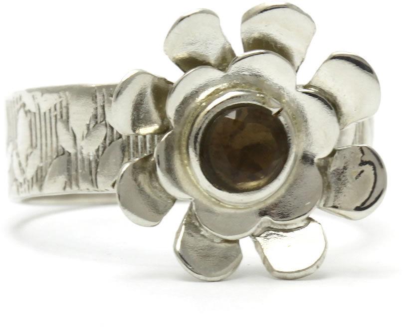 Kuźnia Srebra - Pierścionek srebrny, rozm. 15, Kwarc Dymny, 4g, model