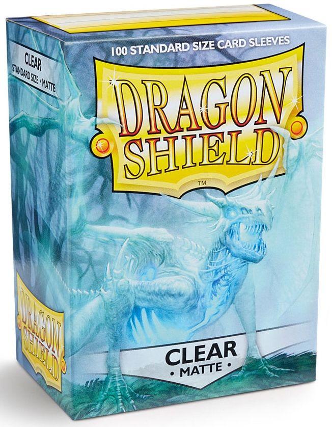 Koszulki na karty - Przezroczyste matowe (Dragon Shield, 100 szt.)