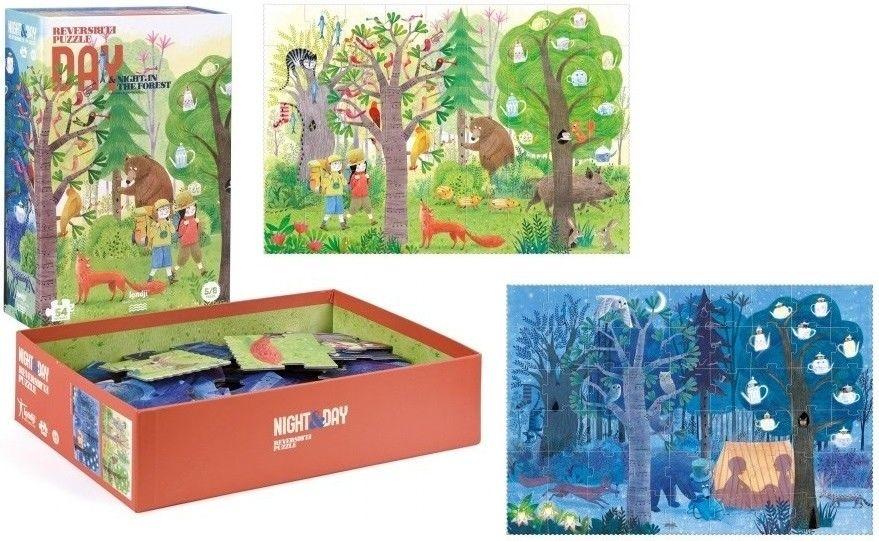 Puzzle Londji - Dzień i noc w lesie