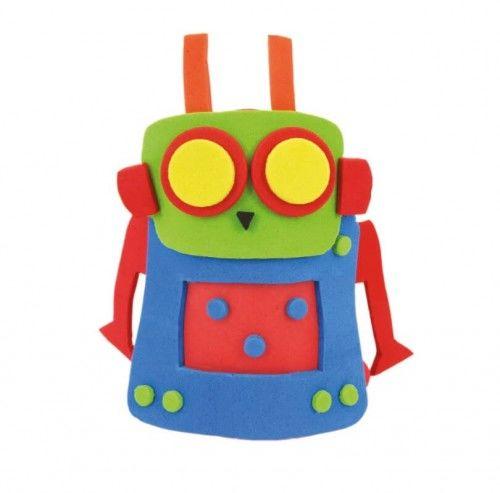Zestaw Kreatywny Pacynka z pianki, Robot