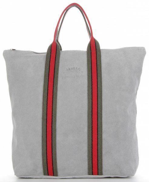 Torebki Skórzane ShopperBag renomowanej firmy VITTORIA GOTTI Jasno Szare (kolory)